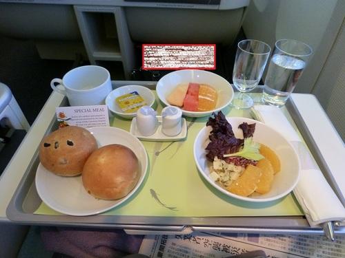 20120816大韓航空ビジネスクラス 食事-サラダ.jpg