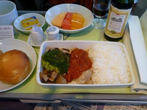 20120816大韓航空ビジネスクラス 食事-メイン.jpg