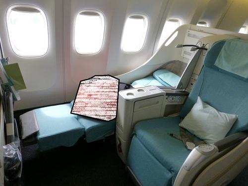 20120816大韓航空ビジネスクラス座席その3.jpg