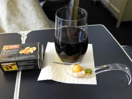 20120817エールフランスビジネスクラス 食事-アペリティフ.jpg